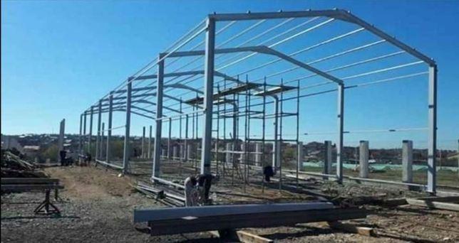 Vând hale metalice structuri demontabile livrez le și montez