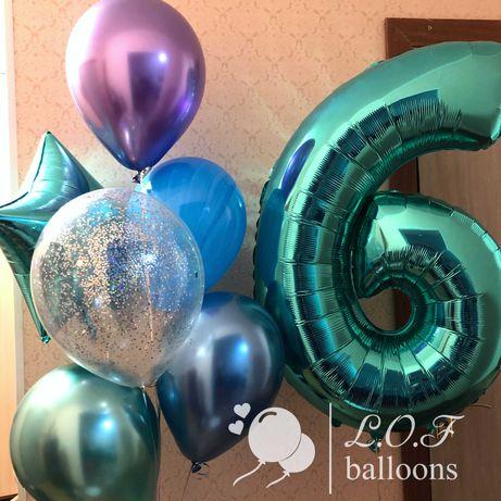 Гелиевые воздушные шары Нур-Султан, доставка.Композиции из шаров.