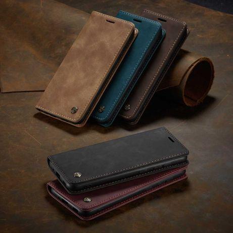 Husa Samsung A21S, piele, textura catifelata,portofel,tip carte CaseMe