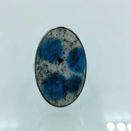 inel argint reglabil k2 azurit in granit