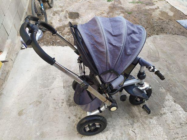 детский велосипед коляска трансформер спинка ложится