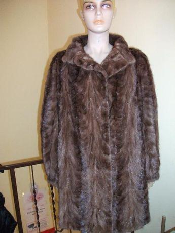 Палто от норка визон кафяво