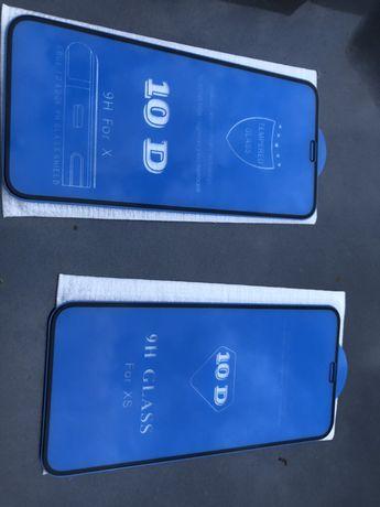Vand folie sticla 10 D iphone X / XS si fata spate