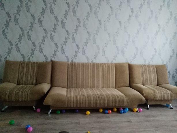 Мягкая мебель диван и 2 кресла
