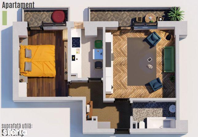 Apartament 2 camere 51mp Tatarasi-Green Park-Venetia