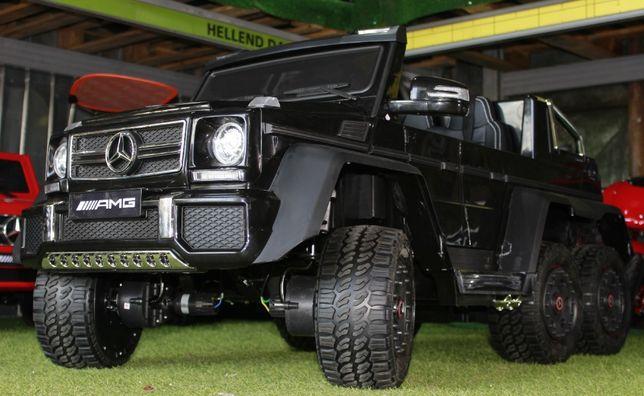 Masinuta electrica pentru copii Mercedes G63 6x6 + Scaun Adult #Negru