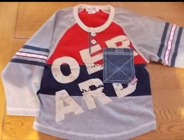 Bluza MiniBasic cu maneca lunga pentru baieti 5-6 ani