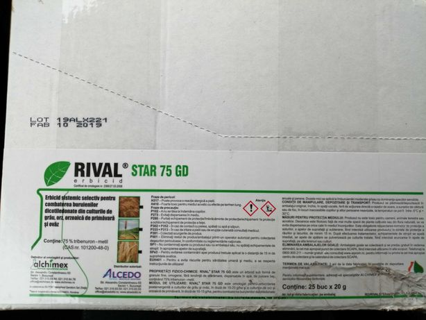 Erbicid  Rival star 75 GD ,plic 20g