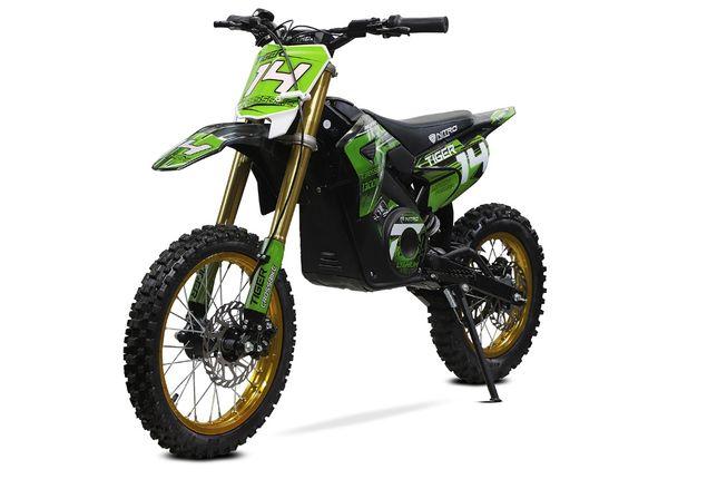 Motocicleta electrica Eco Tiger 1300W 14/12 48V 14Ah Lithiu ION #Verde