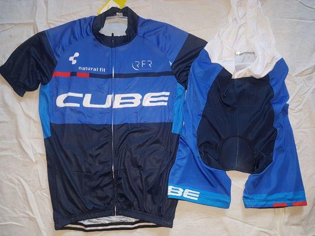 Echipament ciclism Cube 2019 NOU set tricou si pantaloni cu bretele