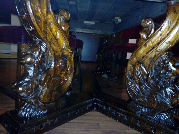 Masa Renastere sculptata lemn masiv