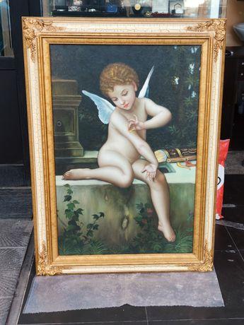 Купидон *Масло върху платно*1900-50г.*Живопис*Чужд автор.*Шедьовър !!!
