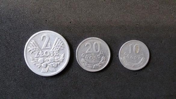 Полша злоти, грошове - 1958,1963,1949 г.