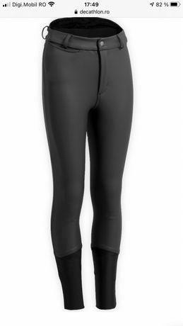 Pantaloni echitatie imitatie piele- decathlon.