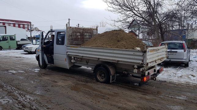 Vand transport basculabil nisip sort balastru pietris pamant negru