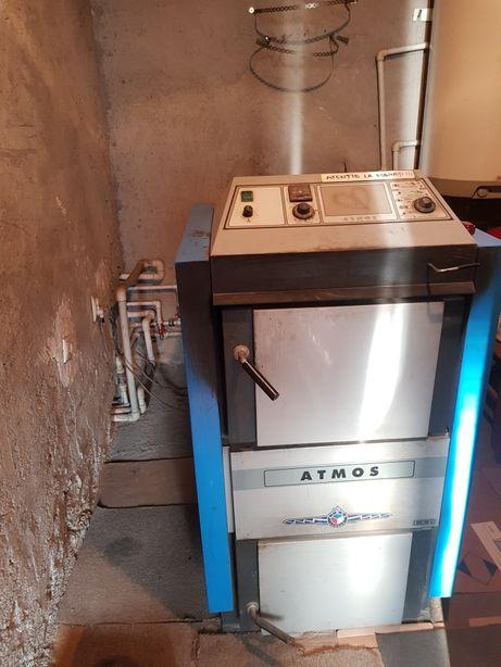 Cazan pe lemne cu gazeificare ATMOS DC32S – 35 kw