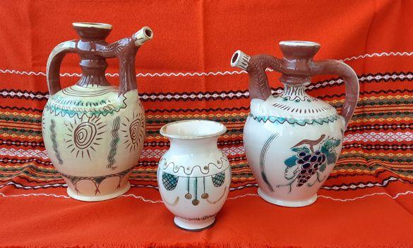 керамични кани и бъклици за вино