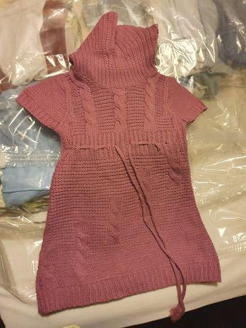 Rochie tip pulover cu guler fetite 4 ani