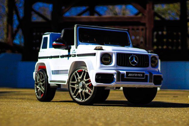 Masinuta electrica pentru copii Mercedes G63 AMG 2x25W NOUA #ALB