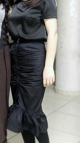 Юбка черная размер S