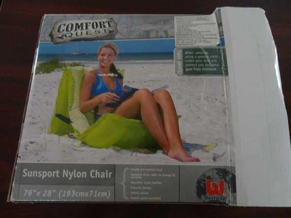 Saltea gonflabila pentru plaja tip scaun Comfort Quest, noua