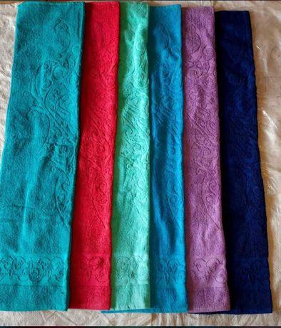 Туркменские джаккард полотенца. 100 % хлопок. Доставка по городу.
