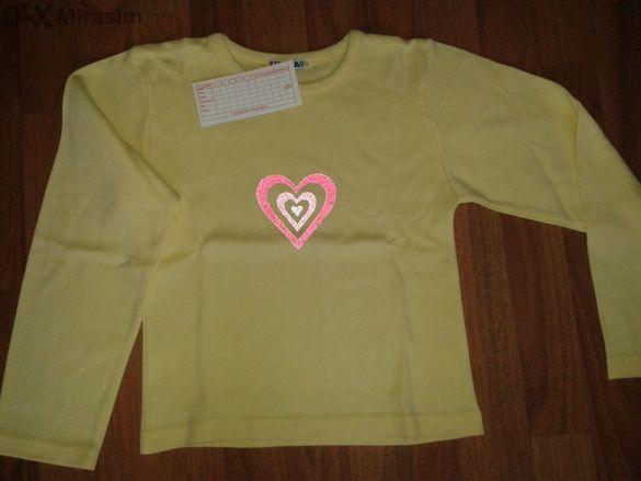 Нова! Блуза за момиче - бледо жълта