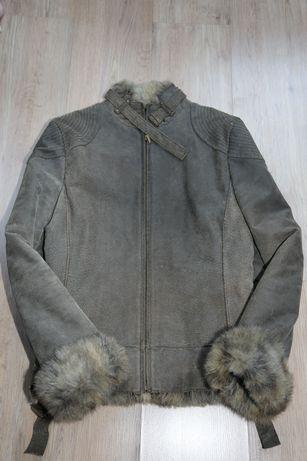 Куртка MANGO из искусственной кожи и меха