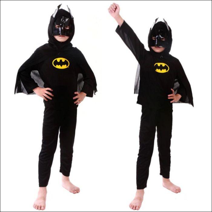 Батман Костюм Супергерой - Наметало с Маска, Блуза И Панталон Батман