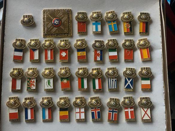 Руски значки Евро футбол 1984 г. Москва