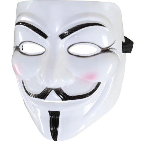 Masca Anonymous, Guy Fawkes, Masca V for Vendetta Alba