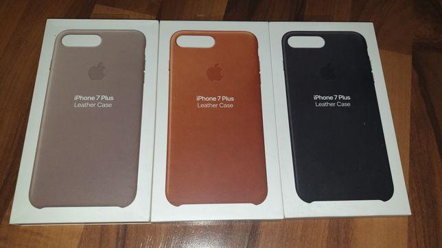 Husa 100% originala piele naturala Apple Leather Case iPhone 7 8 Plus