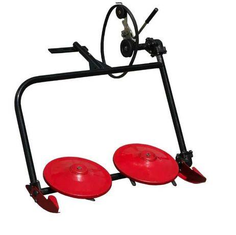 Cositoare rotativa cu doua talere pentru motocultor cu fulie laterala