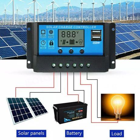 Соларен контролер 20А солар фотоволтаичен панел слънчев колектор
