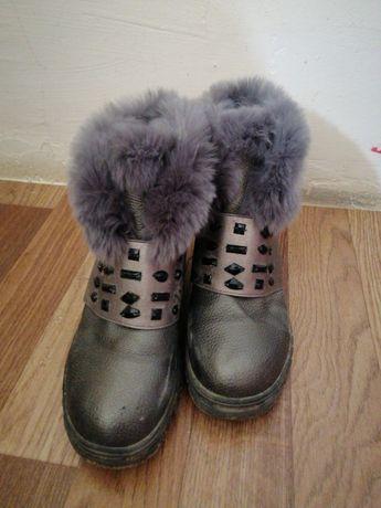 Зимний серый обувь