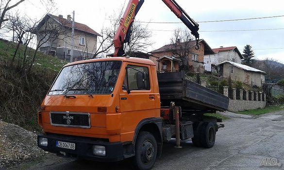 Транспорти услуги камион самосвал с кран