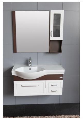 горен шкаф за баня с огледало ВЕЛЕКА / ОГЛЕДАЛО С PVC КОЛОНА