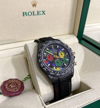 Rolex Daytona Carbon Case DIW Limited Edition ETA 7750 Chronograph