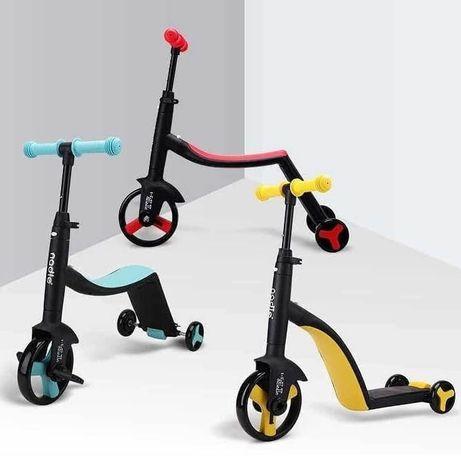 Самокат-беговел-велосипед