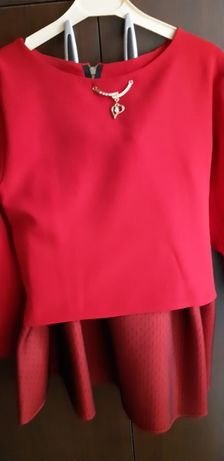 Costum bluza si fusta de fete, marimea 34