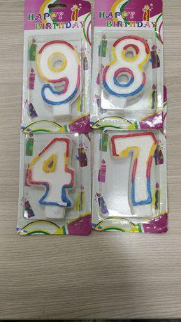 Свечи цифры на торт