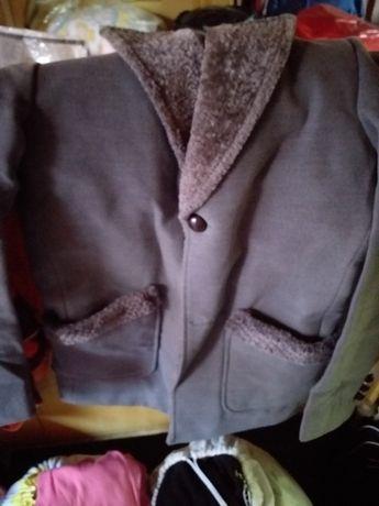 Мъжко елегантно сиво палто-ново!