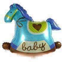 Balon folie căluț baby albastru