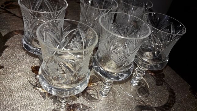 Pahare din cristal Bohemia cu tăietura manuala
