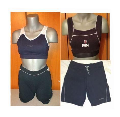 Costum fitness LaGear - Lonsdale: Bermude & Bustiere, M