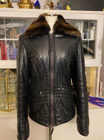 Куртка утепленная из натуральной кожи Gizia