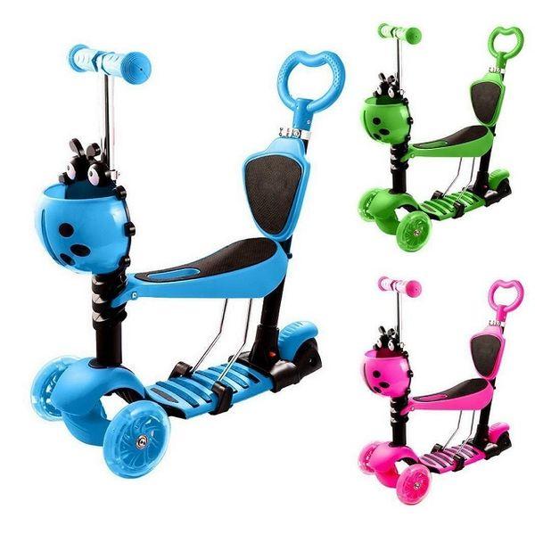 Тротинетка с родителски контрол,скутер, триколка със светещи гуми гр. Варна - image 1