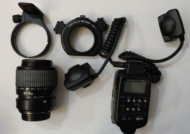 Canon MP-E 65mm f/2.8  + Canon Macro Twin Lite MT-24EX