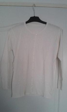 Bluza alba cu nastrui ornamentali M