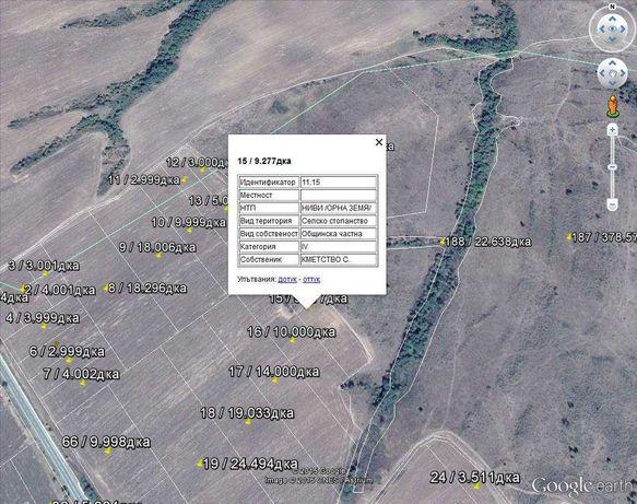 ЗЕМ / ZEM / GPS / Земеделска карта. Всички землища. КВС
